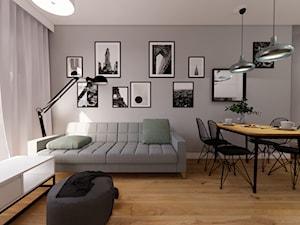 Projekt mieszkania - szarość we wnętrzach