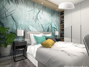Sypialnia w kolorze turkusowym