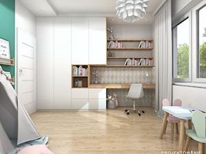 Projekt pokoju dziewczynki w słodkich pastelach - zdjęcie od Projektowanie Wnetrz Online