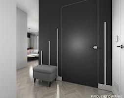 Projekty przedpokojów - Średni czarny szary hol / przedpokój - zdjęcie od Projektowanie Wnetrz Online