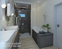 Projekt łazienki W Szarościach Projekt Wnętrza Mieszkalnego