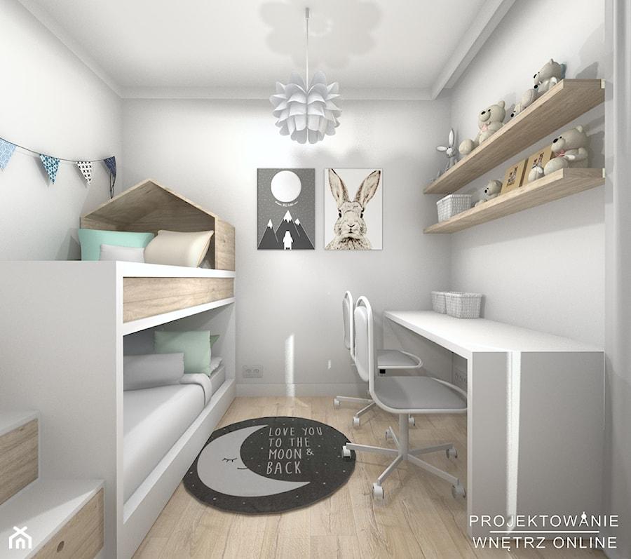 Aranżacje wnętrz - Pokój dziecka: Pokój dziecięcy w szarości - Mały biały szary pokój dziecka dla rodzeństwa dla malucha - Projektowanie Wnetrz Online. Przeglądaj, dodawaj i zapisuj najlepsze zdjęcia, pomysły i inspiracje designerskie. W bazie mamy już prawie milion fotografii!