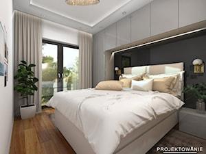 Projekt sypialni glamur w beżach