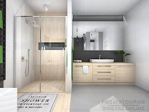 Duża łazienka z wanną i prysznicem