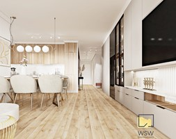 Salon+i+Be%C5%BCowo-drewnianaa+kuchnia+modern+classic+z+marmurem+-+zdj%C4%99cie+od+Wydzia%C5%82+Spraw+Wewn%C4%99trznych