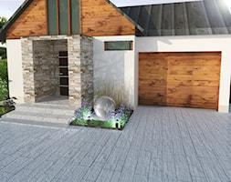 projekty - Średni ogród przed domem, styl nowoczesny - zdjęcie od ogrodyolsztyna