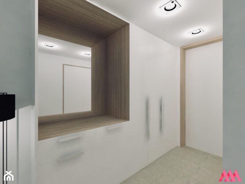 Pokój hotelowy - Średni biały hol / przedpokój - zdjęcie od MWZ Architektura Wnętrz - Homebook