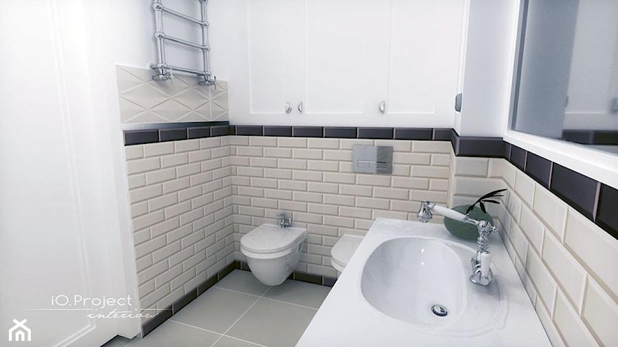 Dom w Nasielsku - Średnia biała łazienka w bloku w domu jednorodzinnym bez okna, styl klasyczny - zdjęcie od iO Project