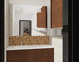Projekt koncepcyjny mieszkania 3 - Mała biała łazienka na poddaszu w bloku w domu jednorodzinnym bez okna, styl nowoczesny - zdjęcie od KRAMKOWSKA | PRACOWNIA WNĘTRZ