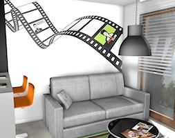 projekt mieszkania 40m2 - Salon, styl industrialny - zdjęcie od KRAMKOWSKA | PRACOWNIA WNĘTRZ