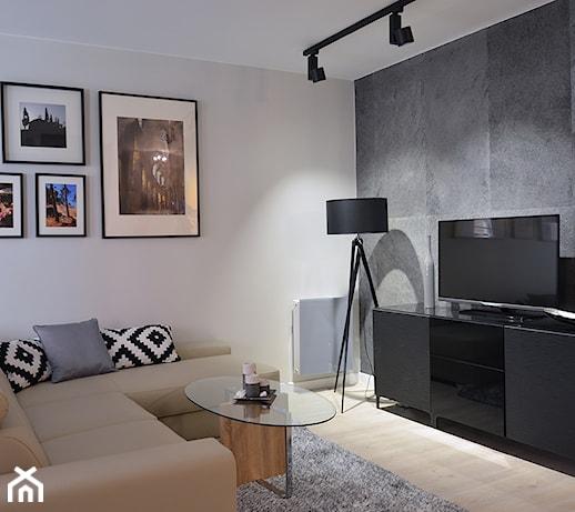 Mieszkanie w Browarze Gdańskim  zdjęcie od Helena Michel Design -> Salon Kuchni Gdansk