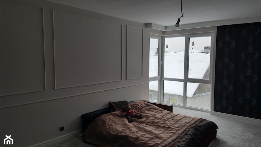 Średnia sypialnia małżeńska, styl nowoczesny - zdjęcie od SPATIUM Hanna Blicharska