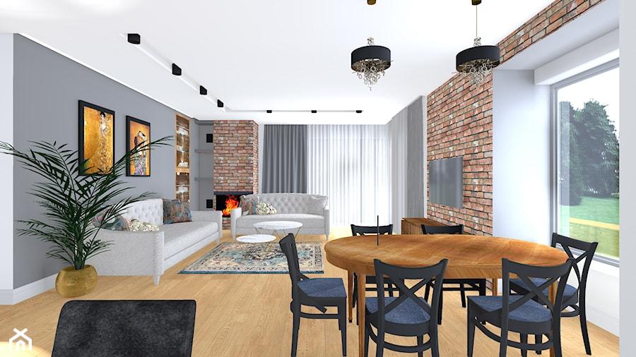 dom w Gryfinie - Salon, styl nowoczesny - zdjęcie od SPATIUM Hanna Blicharska