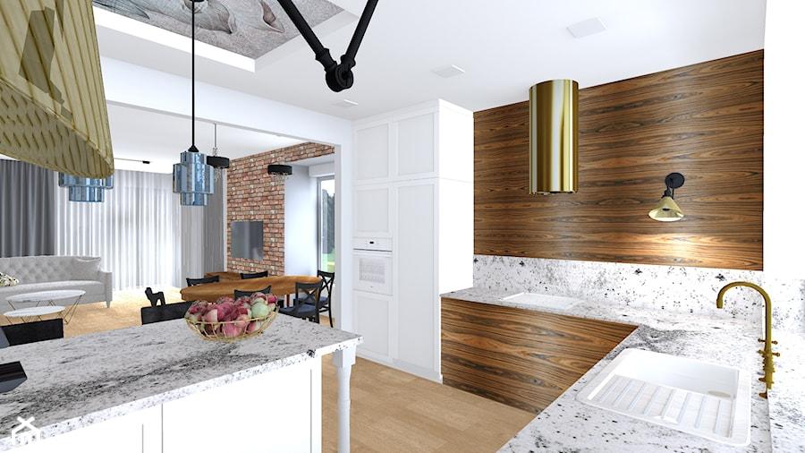 dom w Gryfinie - Kuchnia, styl nowoczesny - zdjęcie od SPATIUM Hanna Blicharska