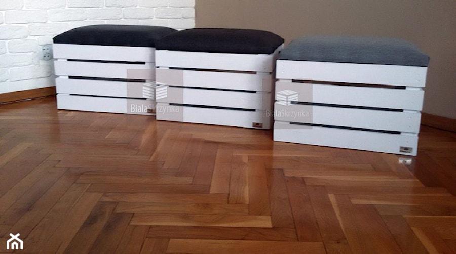 fcf7f93d Aranżacje wnętrz - Domy: pufa siedzisko na zabawki buty pufy skrzynki  drewniane kuferek - Domy