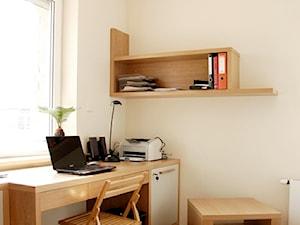 Dom Mrągowo - Małe beżowe biuro kącik do pracy w pokoju, styl nowoczesny - zdjęcie od GAGO Design