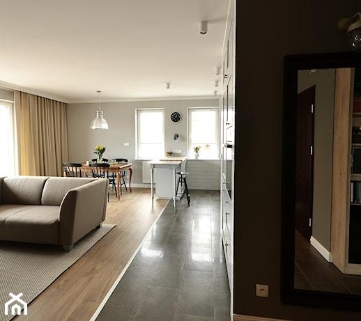 Mieszkanie Rumia 1  Salon, styl eklektyczny  zdjęcie od ANA & BERTA PRO   -> Salon Kuchni Rumia