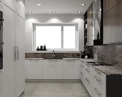 POD KLIENTA - Średnia zamknięta szara kuchnia w kształcie litery l z oknem, styl art deco - zdjęcie od EKLEKT ATELIER