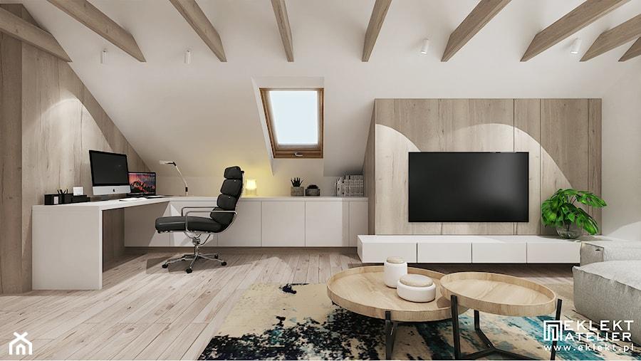Salon z aneksem biurowym - zdjęcie od EKLEKT ATELIER