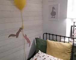 Radom - Mały biały pokój dziecka dla chłopca dla dziewczynki dla malucha dla nastolatka, styl industrialny - zdjęcie od AK04-STUDIO- Aleksandra Kwiecień
