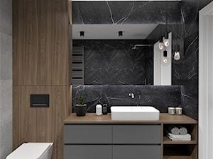 Ciemna łazienka - zdjęcie od BDWstudio