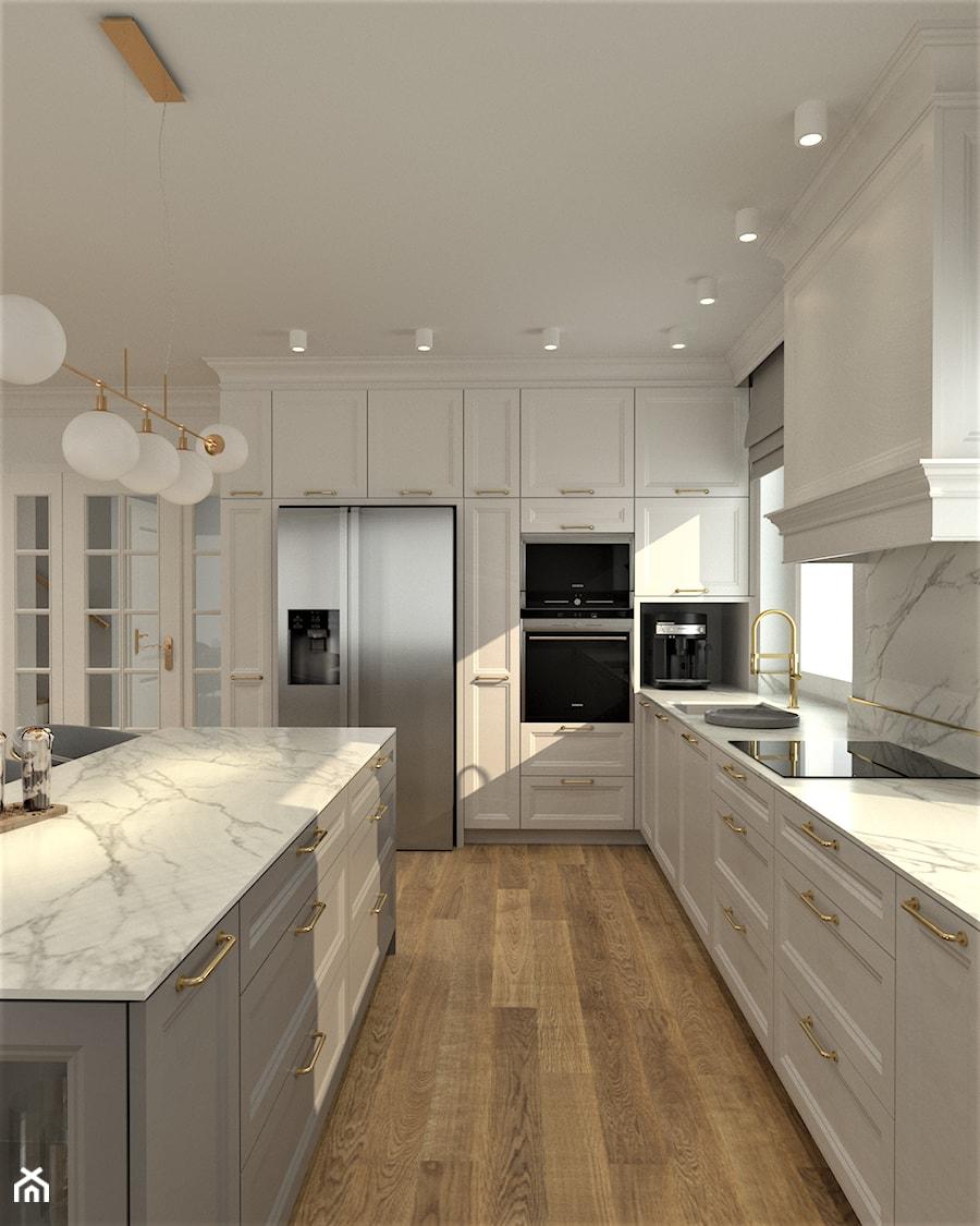 DOM W STYLU HAMPTONS - Kuchnia, styl nowojorski - zdjęcie od BDWstudio