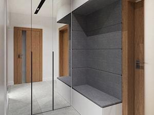 DOM W FIRLEJU - Średni biały hol / przedpokój, styl nowoczesny - zdjęcie od BDWstudio