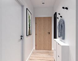 Mieszkanie na Odolanach - Średni biały hol / przedpokój, styl skandynawski - zdjęcie od BDWstudio - Homebook