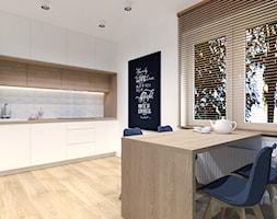 Mieszkanie, Radzyń Podlaski - Średnia otwarta biała kuchnia jednorzędowa z oknem, styl skandynawski - zdjęcie od BDWstudio - Homebook