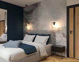 Sypialnia z tapetą - zdjęcie od BDWstudio - Homebook