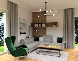 DOM POD WROCŁAWIEM - Średni biały salon, styl nowoczesny - zdjęcie od BDWstudio - Homebook