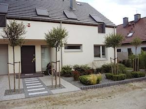 OGRÓD MINIMALISTYCZNY Z PALMĄ - Mały ogród przed domem, styl minimalistyczny - zdjęcie od Jasminum architektura krajobrazu