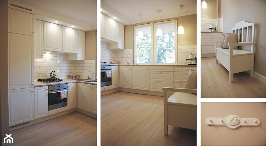 Projket wnętrza mieszkania 35m2  Średnia otwarta kuchnia