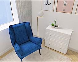 Dwupoziomowe mieszkanie w Rumi - Mały szary pokój dziecka dla chłopca dla dziewczynki dla malucha dla nastolatka, styl klasyczny - zdjęcie od Beton i Drewno - Studio Projektowania Wnętrz