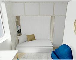 Dwupoziomowe mieszkanie w Rumi - Mały biały szary pokój dziecka dla chłopca dla dziewczynki dla ucznia dla malucha dla nastolatka, styl klasyczny - zdjęcie od Beton i Drewno - Studio Projektowania Wnętrz