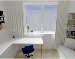 Dwupoziomowe mieszkanie w Rumi - Mały biały pokój dziecka dla chłopca dla dziewczynki dla ucznia dla nastolatka, styl klasyczny - zdjęcie od Beton i Drewno - Studio Projektowania Wnętrz