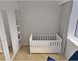 Dwupoziomowe mieszkanie w Rumi - Mały szary pokój dziecka dla chłopca dla dziewczynki dla niemowlaka, styl klasyczny - zdjęcie od Beton i Drewno - Studio Projektowania Wnętrz