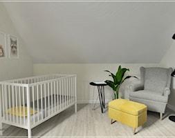 Pokój dziecięcy w Stężycy - Średni biały pokój dziecka dla chłopca dla dziewczynki dla niemowlaka, styl nowoczesny - zdjęcie od Beton i Drewno - Studio Projektowania Wnętrz