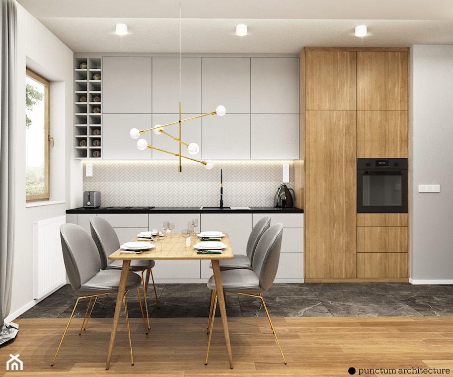 Mieszkanie 47m2, Warszawa - Kuchnia, styl eklektyczny - zdjęcie od Julia Wilczyńska-Kuciapska ⚫️ punctum architecture