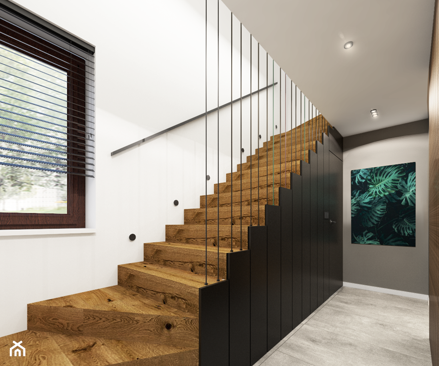 Dom 130m2, Sułków - Schody, styl nowoczesny - zdjęcie od Julia Wilczyńska ⚫️ punctum architecture
