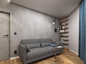 Mieszkanie 58m2, Kraków - Średnie szare biuro kącik do pracy w pokoju, styl nowoczesny - zdjęcie od Julia Wilczyńska ⚫️ punctum architecture