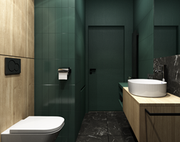 Mieszkanie 41m² - Wiślane Tarasy 2.0, Kraków - Łazienka, styl nowoczesny - zdjęcie od Julia Wilczyńska-Kuciapska ⚫️ punctum architecture - Homebook