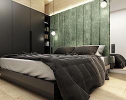 Mieszkanie 41m² - Wiślane Tarasy 2.0, Kraków - Sypialnia, styl nowoczesny - zdjęcie od Julia Wilczyńska-Kuciapska ⚫️ punctum architecture - Homebook