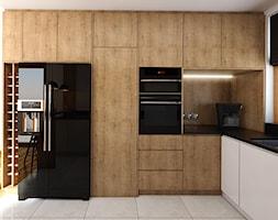Kuchnia 9m2 - Średnia zamknięta biała kuchnia w kształcie litery l z oknem, styl nowoczesny - zdjęcie od Julia Wilczyńska