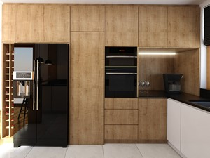 Kuchnia 9m2 - Średnia zamknięta biała kuchnia w kształcie litery l z oknem, styl nowoczesny - zdjęcie od Julia Wilczyńska ⚫️ punctum architecture