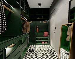 Dom 130m2, Sułków - Średnia zamknięta garderoba oddzielne pomieszczenie, styl nowoczesny - zdjęcie od Julia Wilczyńska
