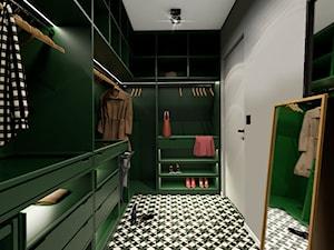 Dom 130m2, Sułków - Średnia zamknięta garderoba oddzielne pomieszczenie, styl nowoczesny - zdjęcie od Julia Wilczyńska ⚫️ punctum architecture
