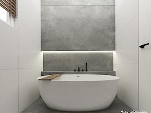 Łazienka 4m2, Jerzmanowice - Średnia biała szara łazienka z oknem, styl minimalistyczny - zdjęcie od Julia Wilczyńska ⚫️ punctum architecture