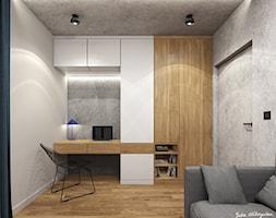 Mieszkanie 58m2, Kraków - Średnie beżowe szare biuro domowe w pokoju, styl nowoczesny - zdjęcie od Julia Wilczyńska