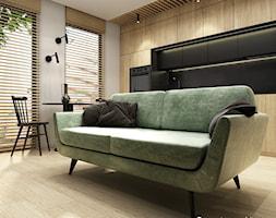 Mieszkanie 41m² - Wiślane Tarasy 2.0, Kraków - Salon, styl nowoczesny - zdjęcie od Julia Wilczyńska-Kuciapska ⚫️ punctum architecture - Homebook